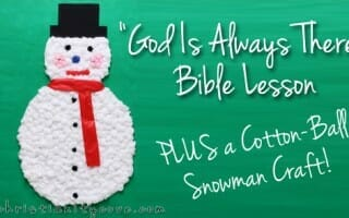 snowman bible lesson