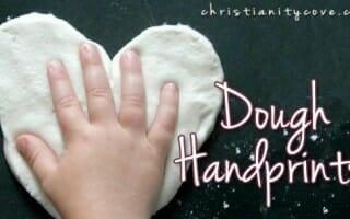 dough hand prints bible craft
