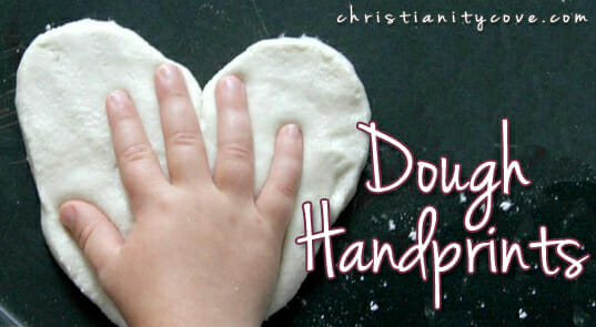 """Dough Handprints"" Bible Craft"