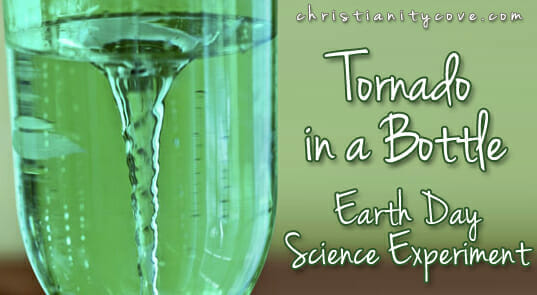 """Tornado in a Bottle"" Earth Day Science Experiment"