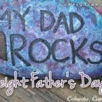 """Dad Rocks"" Father's Day Craft"