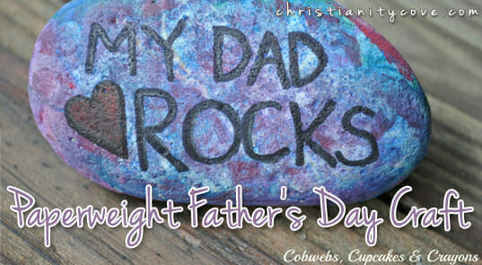 """""""Dad Rocks"""" Father's Day Craft"""