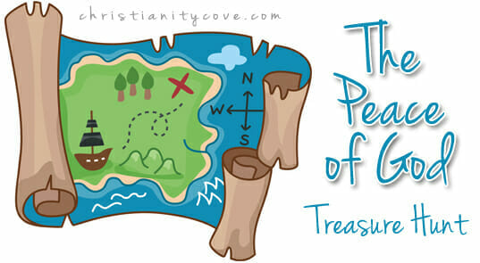"""The Peace of God"" Treasure Hunt – A Seek & Find Bible Game"
