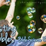 """Bursting Bubbles"" Science Experiment & Why Every Action Counts!"