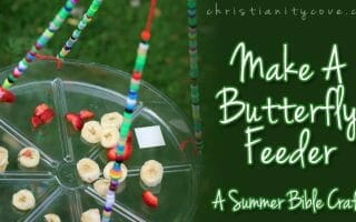 butterfly feeder bible craft
