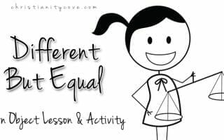different but equal object lesson