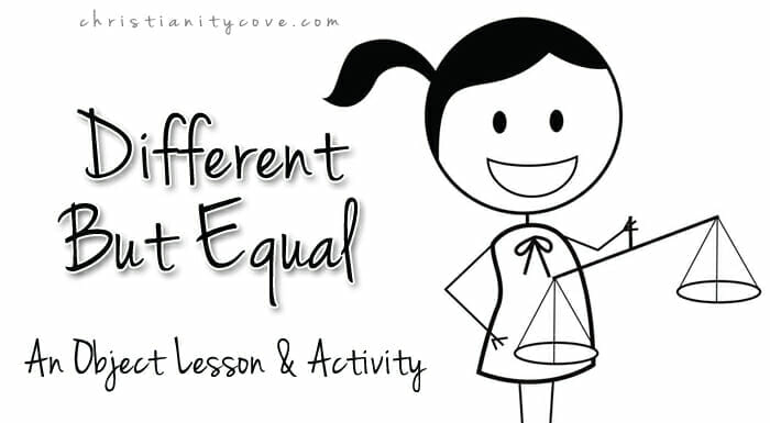 """Different but Equal"" Object Lesson Activity"