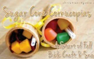 Sugar Cone Cornucopias – A Start of Fall Bible Craft & Snack