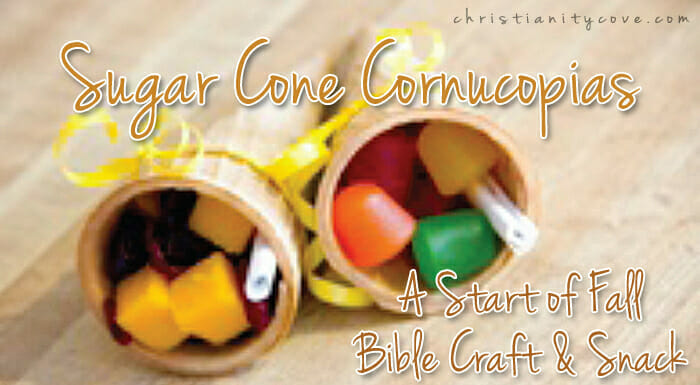 Sugar Cone Cornucopias – A Start of Fall Bible Craft & Snack