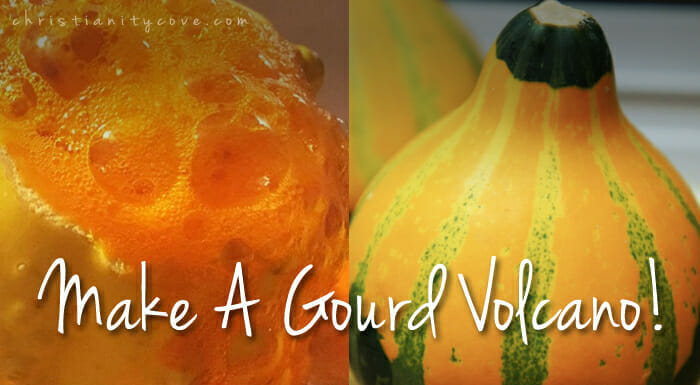 """Gourd Volcanoes"" Science Experiment"