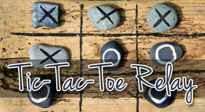 """Tic-Tac-Toe Relay"" Bible Game"