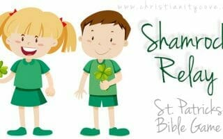 """Shamrock Relay"" St. Patrick's Day Bible Game"
