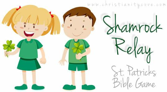 """Shamrock Relay"" St. Patrick's Day Bible Game"