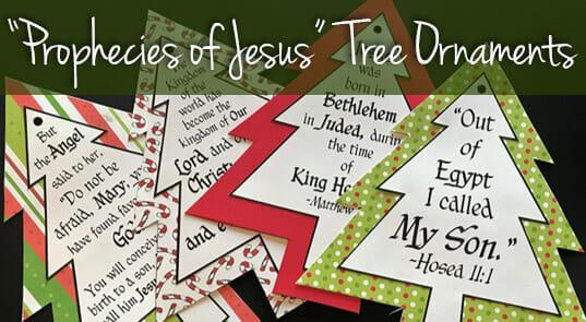 Prophecies of Jesus Tree Ornaments