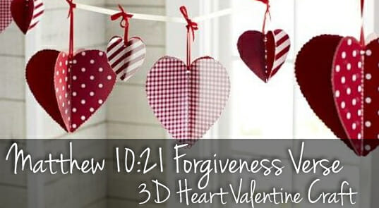Matthew 10:21 Forgiveness Verse Valentine Heart